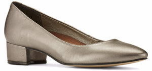 Heidi: Dark Silver Metallic Leather