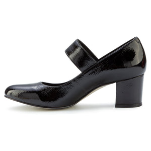 Jackie-2: Black Tumbled Patent LIMITED STOCK