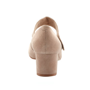 Jackie-2: Light Taupe Suede