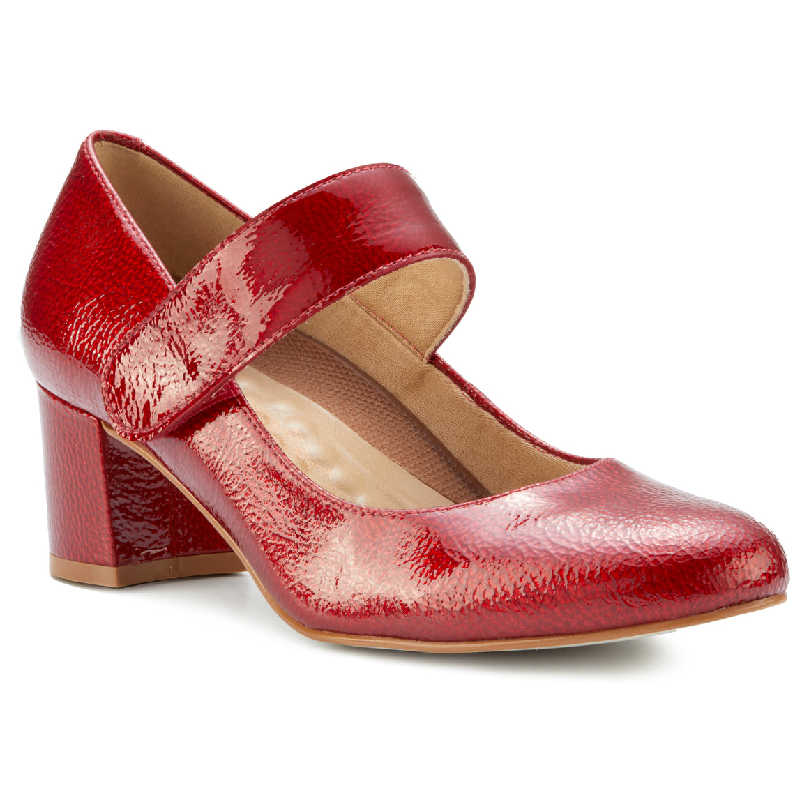 Jackie-2: Red Tumbled Patent NEW