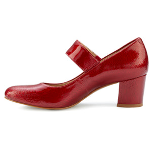 Jackie-2: Red Tumbled Patent LIMITED STOCK