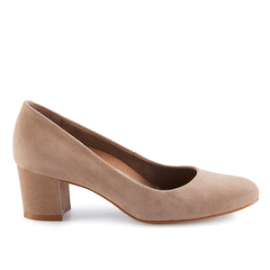Jessica: Light Taupe Suede LIMITED STOCK
