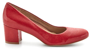 Jessica: Red Patent Lizard Print Leather LIMITED STOCK