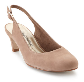 Jolly: Light Taupe Kid Suede