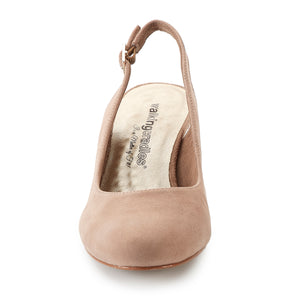 Jolly: Light Taupe Kid Suede NEW