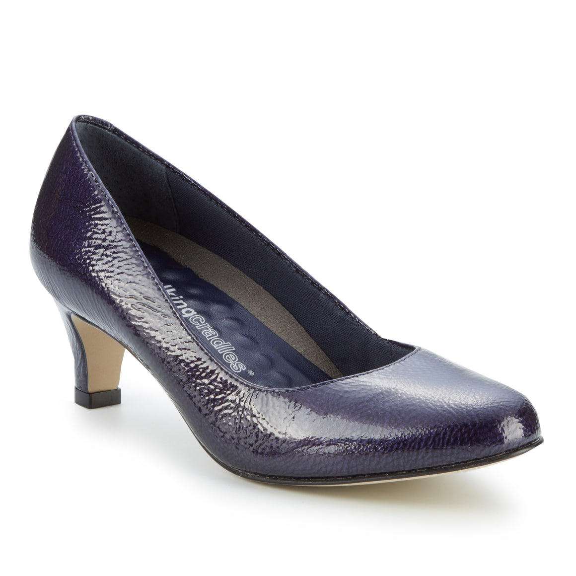 Joy: Navy Tumbled Patent RESTOCKED