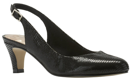 Jolly: Black Patent Lizard Print