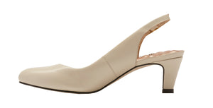 Jolly Sling-back Pump: Bone Leather