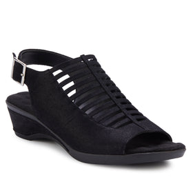 Karina: Black Metallic Suede NEW
