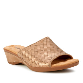 Keely-2: Cipria Metallic Suede NEW
