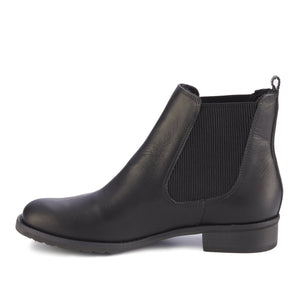 Kendall Bootie: Black Rustic Leather RESTOCKED