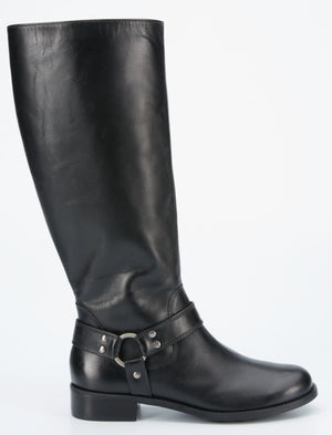 Kristen Boot: Black Cashmere WIDE CALF