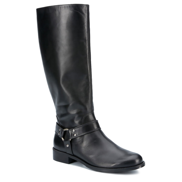 Kristen: Black Cashmere WIDE WIDE CALF: LIMITED STOCK