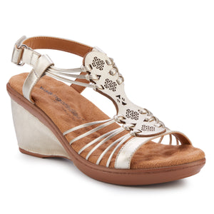 Leona: Platino Soft Metallic Sheep Leather NEW