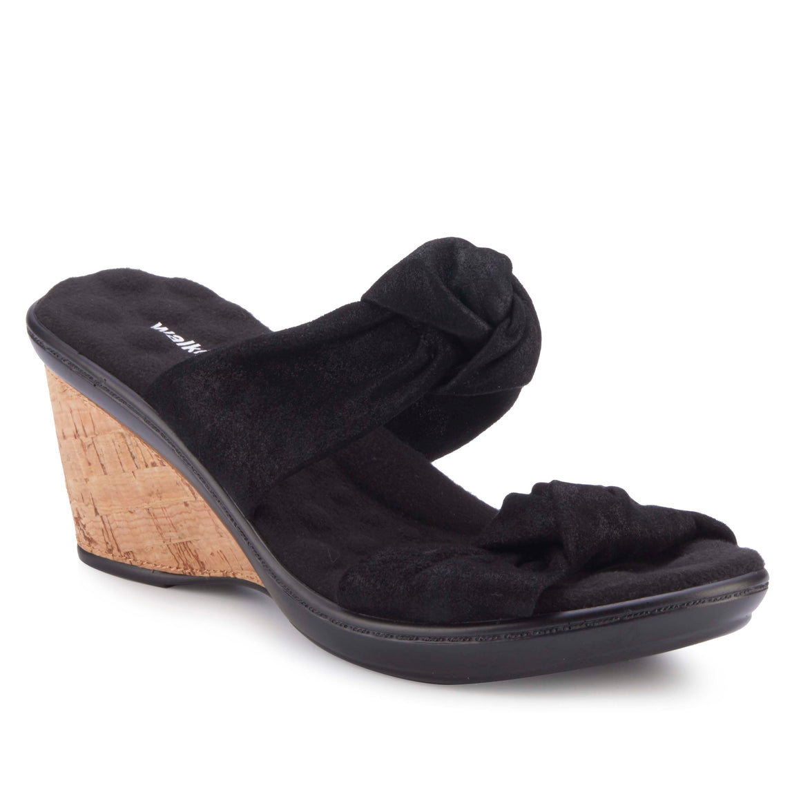 Louisa: Black Metallic Suede