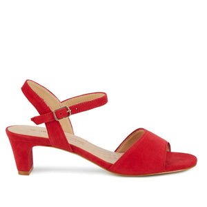 Lydia: Red Suede