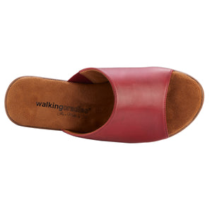 Lynn Wedge Sandal: Red Leather LIMITED STOCK