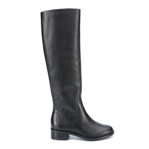 Meadow Boot: Black Cashmere Leather