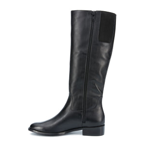 Meadow: Black Cashmere Leather WIDE WIDE CALF: LIMITED STOCK