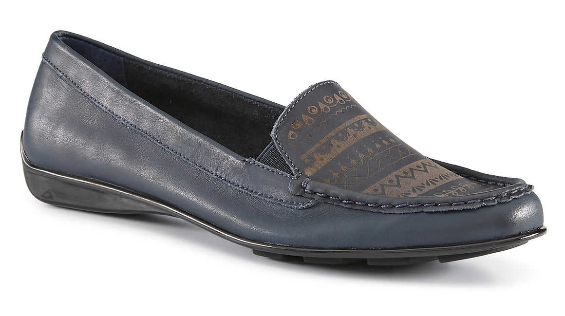Mick: Navy Antique Silky Leather