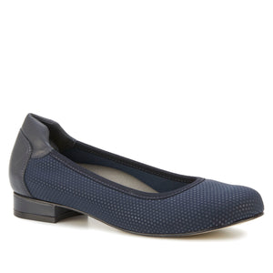 Nelly: Navy Jazz Fabric/Cashmere Leather NEW
