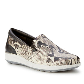 Orleans: Black & Bone Snake Print Leather BOUTIQUE COLLECTION