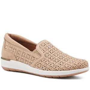 Orleans Slip-On Sneaker: Light Taupe Perfed Nubuck