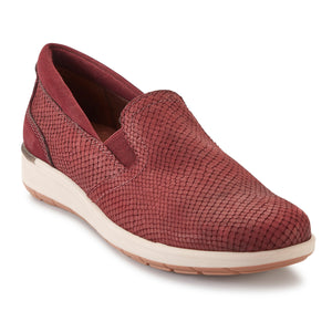Orleans: Wine Matte Snake Print/Nubuck LIMITED STOCK