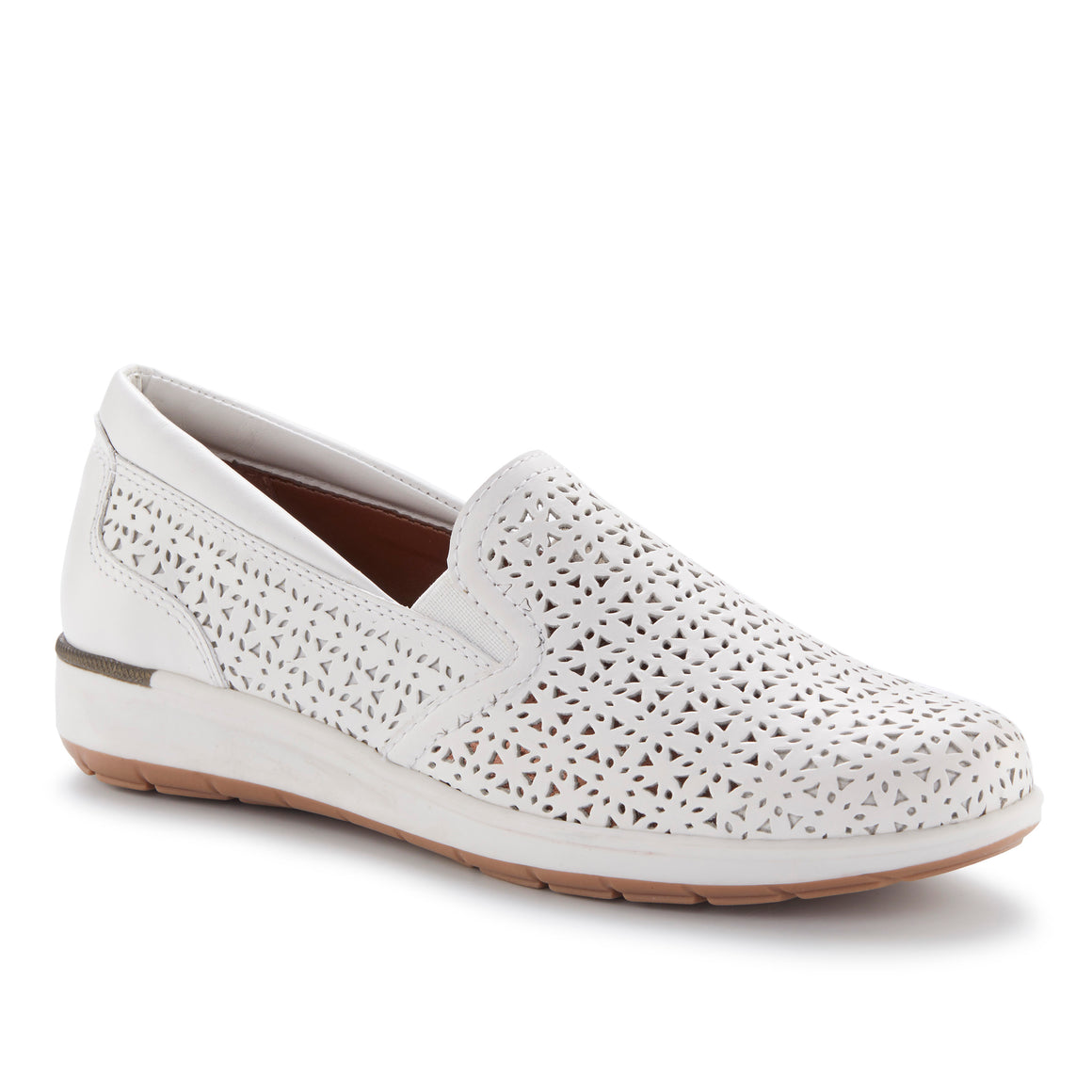 Orleans: White Perfed Nubuck