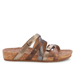 Perla Sandal: Metallic Multi-Leather