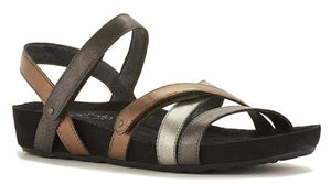 Pool Sandal: Metallic Multi Leather/Suede Wrap LIMITED STOCK