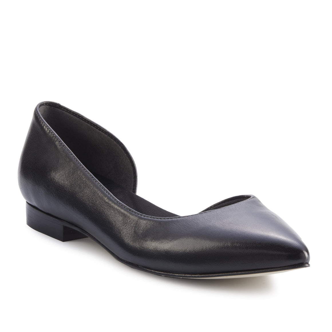 Women's Comfort Flat- Raya in Black Leather
