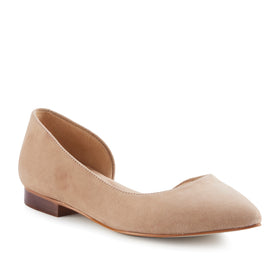 Raya: Light Taupe Suede