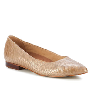 Reece: Lt. Taupe Snakeskin Print Leather NEW