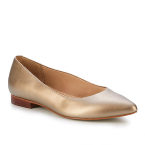 Reece: Soft Gold Metallic Leather NEW