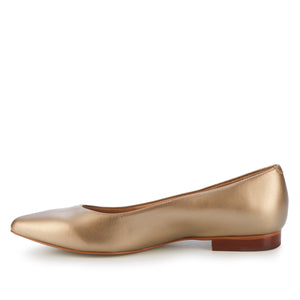Reece: Soft Gold Metallic Leather