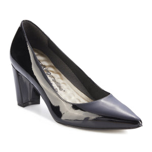 Women's Comfort Pumps- Samantha in Black Patent Leather