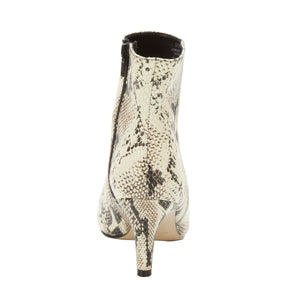 Women's Comfort Bootie- Shine in Black & Bone Snake Print BOUTIQUE COLLECTION