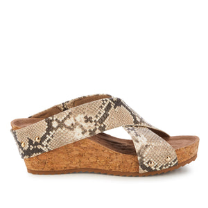 Taralynn: Brown and Bone Snake Print BOUTIQUE COLLECTION