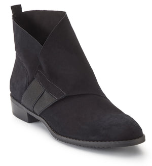 Women's Comfort Bootie- Timber in Black Nubuck