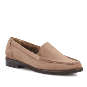 Women's Comfort Casual Shoe- Waverly in Warm Taupe Nubuck