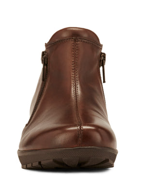 Women's Comfort Bootie- Zeno in Brown Leather