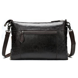 Creative Spliced Leather Crossbody Handbag For Women
