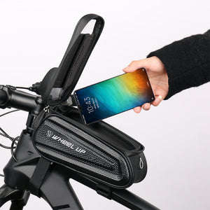Touch Screen Front Top Tube Bicycle Bag + Riding Glasses
