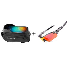Load image into Gallery viewer, Touch Screen Front Top Tube Bicycle Bag + Riding Glasses