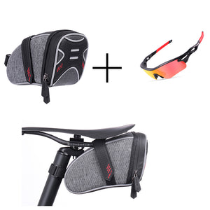 Bicycle Saddle Bag+ Riding Glasses