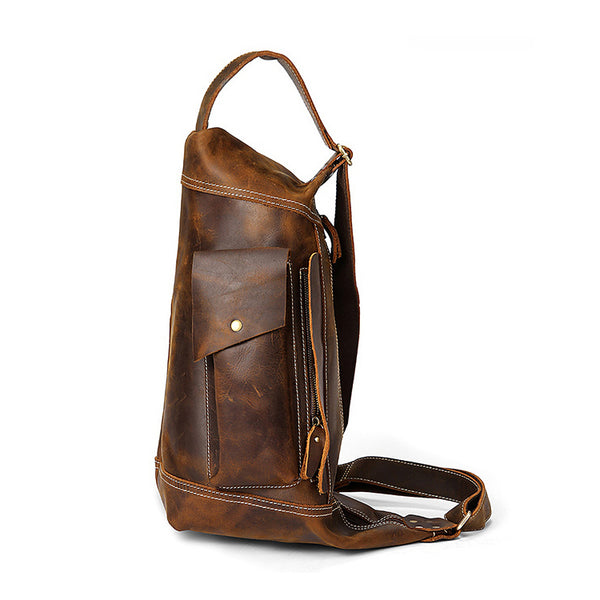 Lightweight And Portable Cowhide Leather Satchel Shoulder Bags