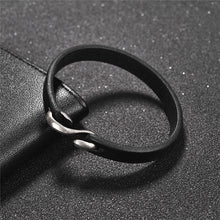 Load image into Gallery viewer, Men Bracelet Vintage Genuine Leather Hook Bracelet Men Wristband Bangles Male Jewelry