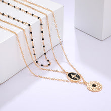 Load image into Gallery viewer, Multi-layer Retro Cross Pendant Necklace
