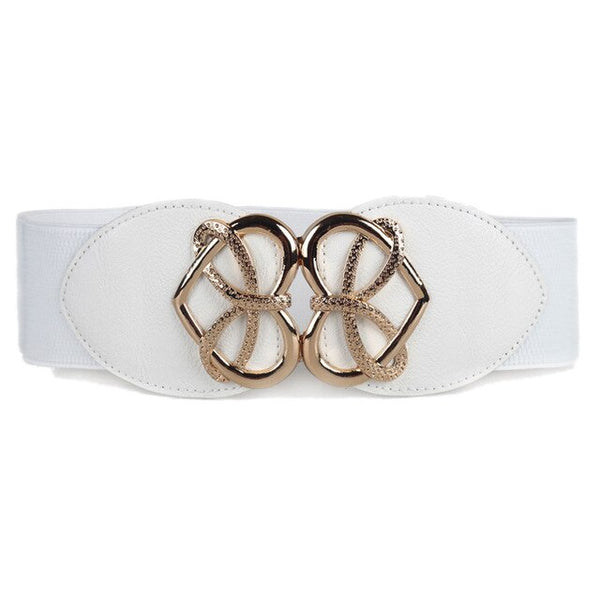 Vintage Waist Belt for Women Fashion Decorative Elastic Wide Belt